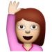 1a girl raising hand emoji