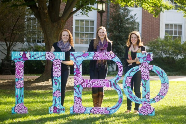 Emily (center) with her Maryland Gamma Chapter sisters. Photo credit: Jenny Wagner